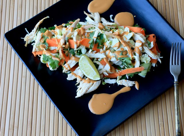 Asian Inspired Chicken and Herb Salad by Chef Katie Cox