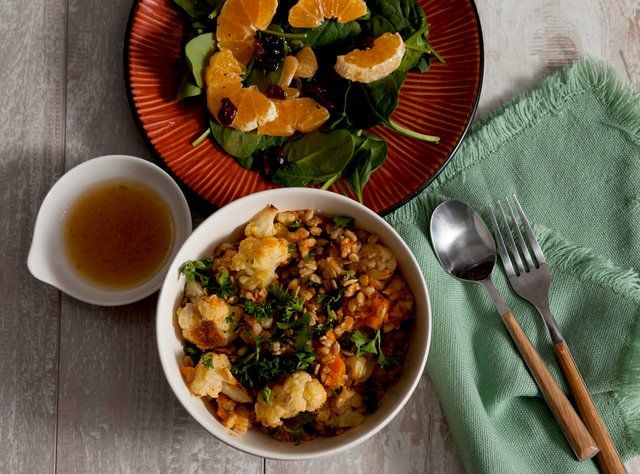 Farro with Roasted Vegetables and Squash by Chef Katie Cox