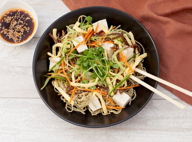 Green Tea Soba Noodle Salad by Chef Jeriel Calamayan