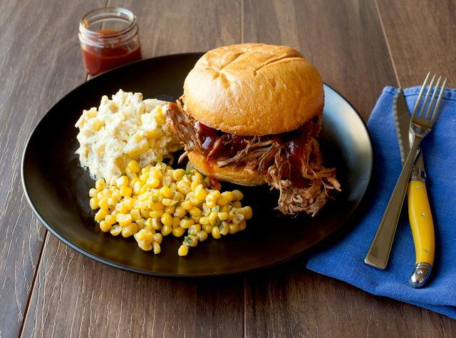 GF BBQ Pulled Chicken Sandwich by Chef Katie Cox