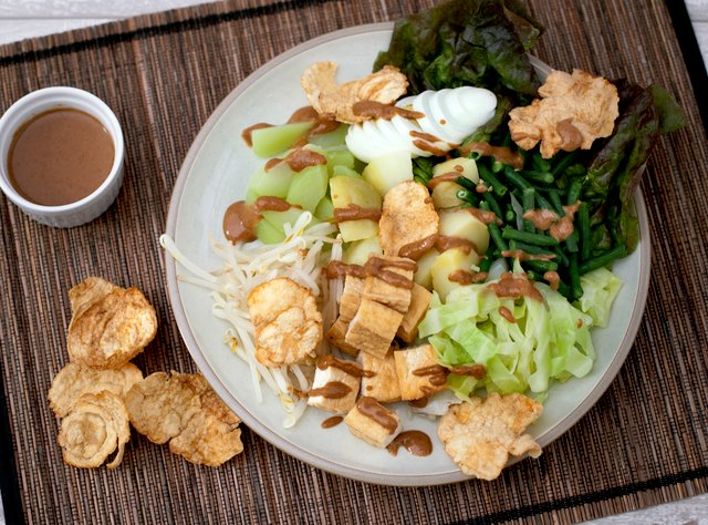 Indonesian Gado Gado by Chef Evelyn Hung