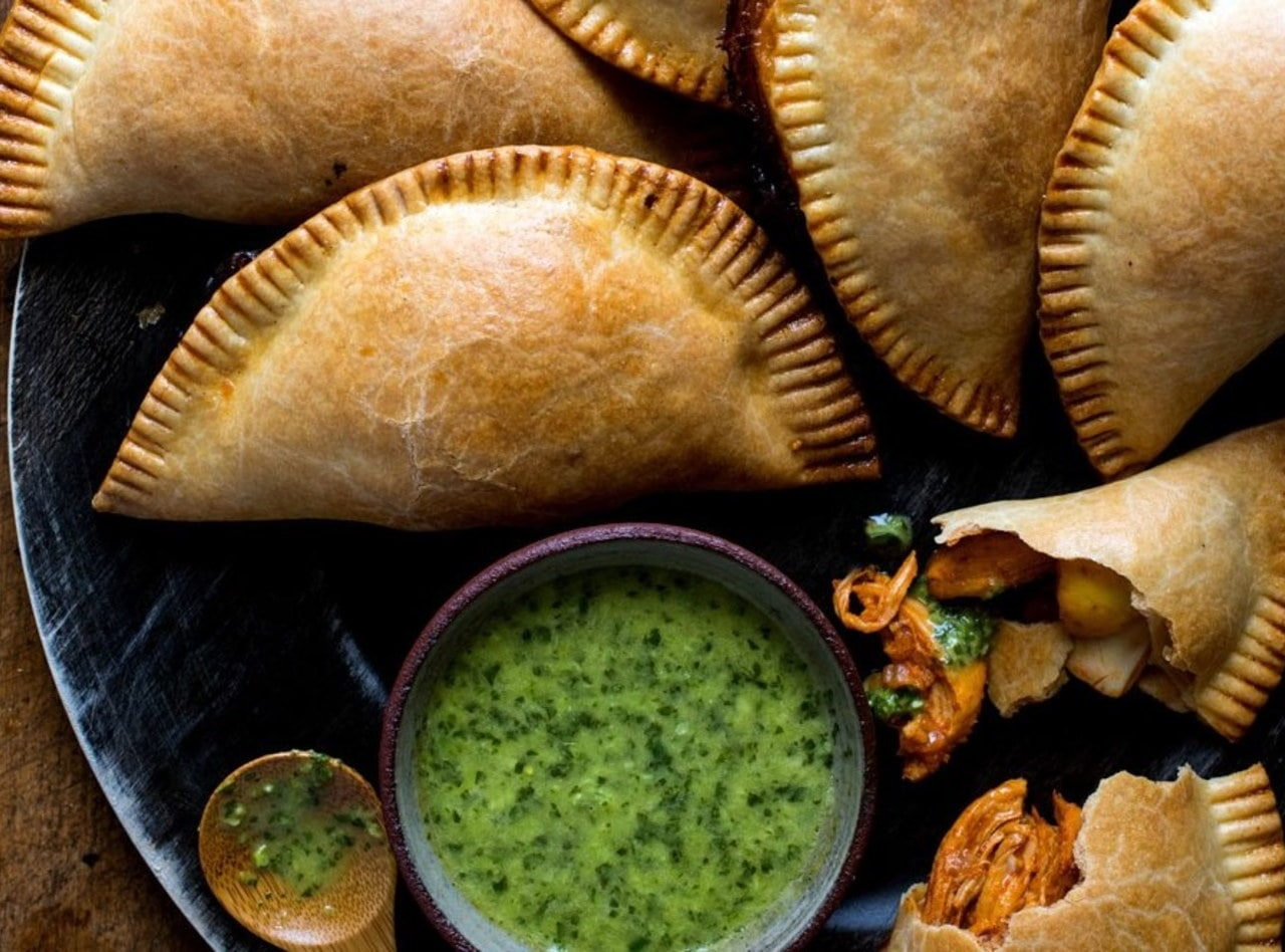 Pollo Brasa Empanadas with Side Salad by Jack Rosenthal