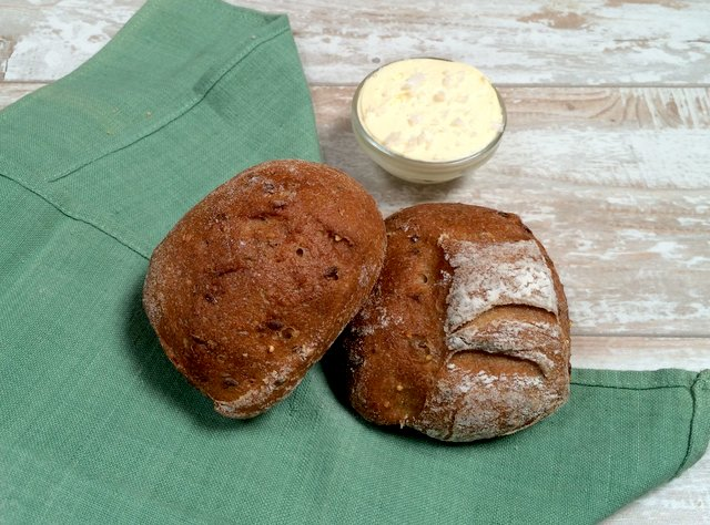 Blackburn Wheat Rolls and Butter by Macrina Bakery