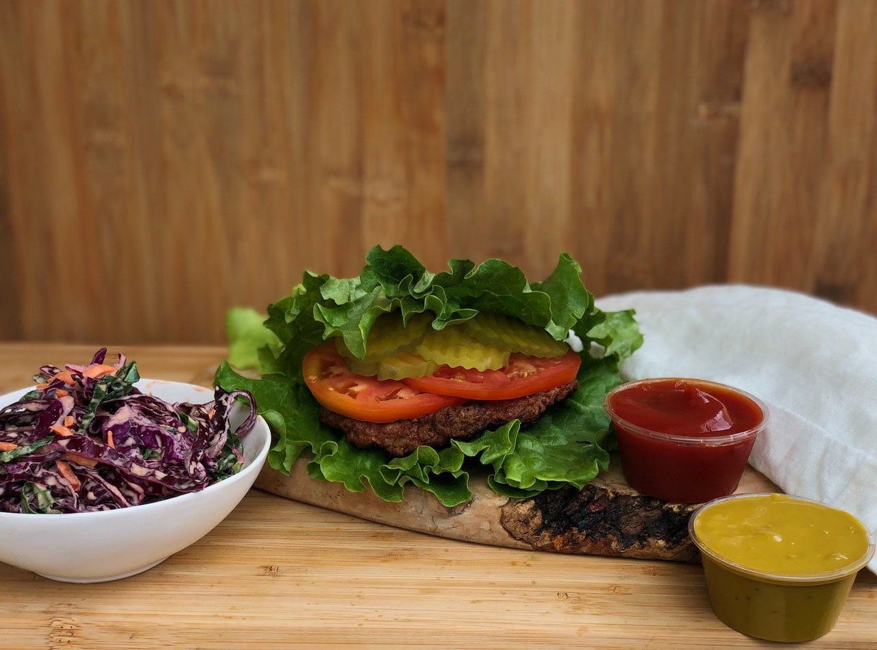 Vegan Lettuce Wrapped Beyond Burger™ Meal by Chef Matthew Hunt