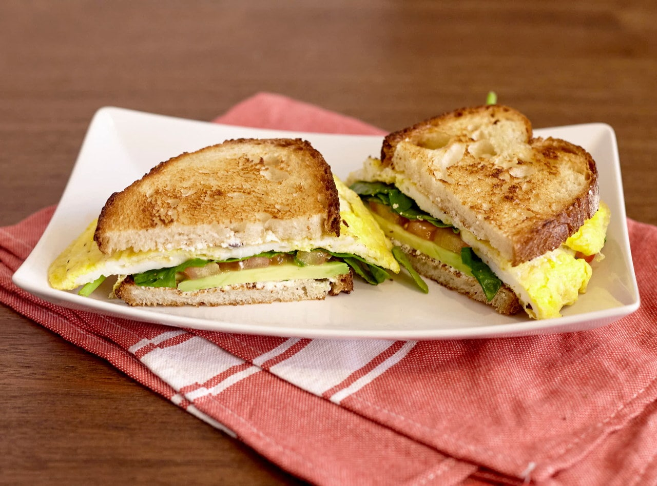 Veggie Egg Breakfast Sandwich by Chef Lilly Gjekmarkaj