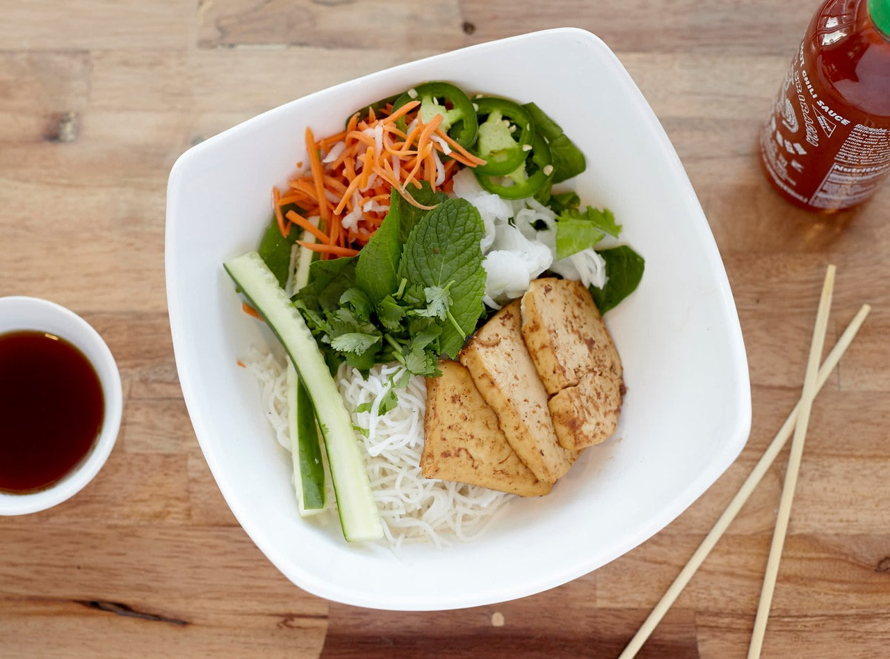 Tofu Vermicelli Bowl by Chef John Tran