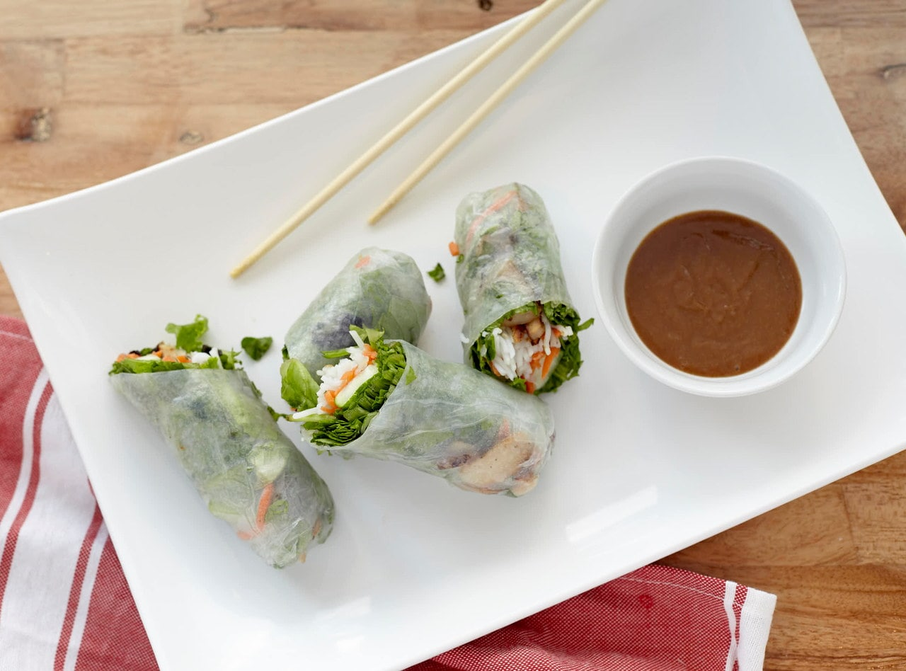 Pork Fresh Spring Rolls by Chef John Tran