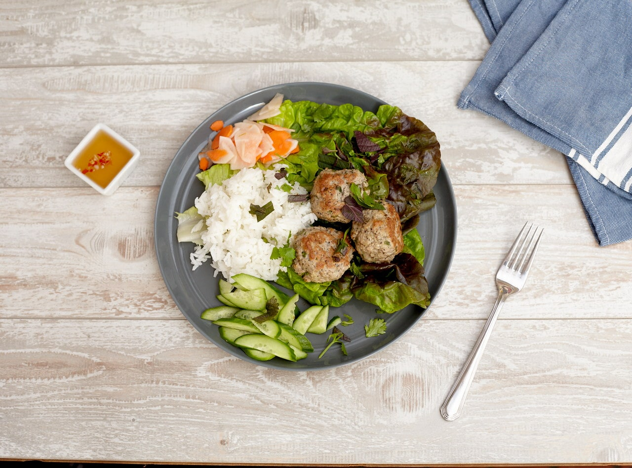 Lemongrass Chicken Meatballs by Lish Chef