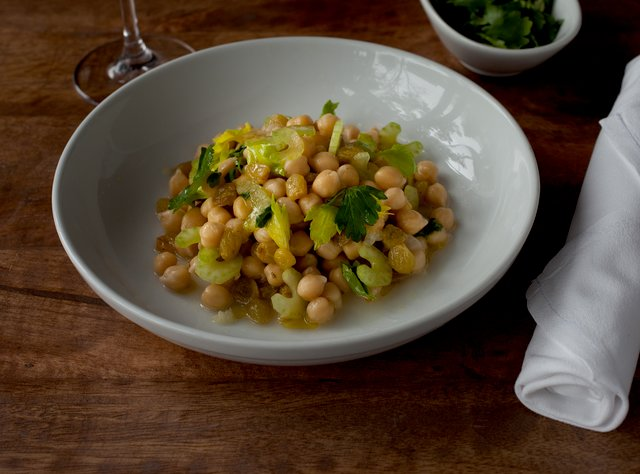 Chickpea Salad with Golden Raisins and Lemon by Chef Ethan Stowell