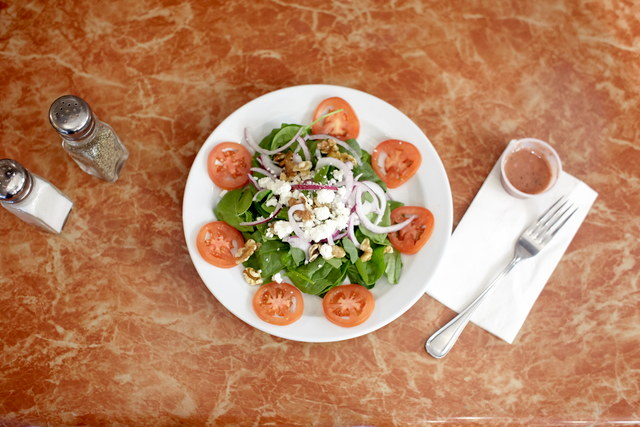 Spinach Salad with Raspberry Vinaigrette (serves 8) by Chef Amir Razzaghi