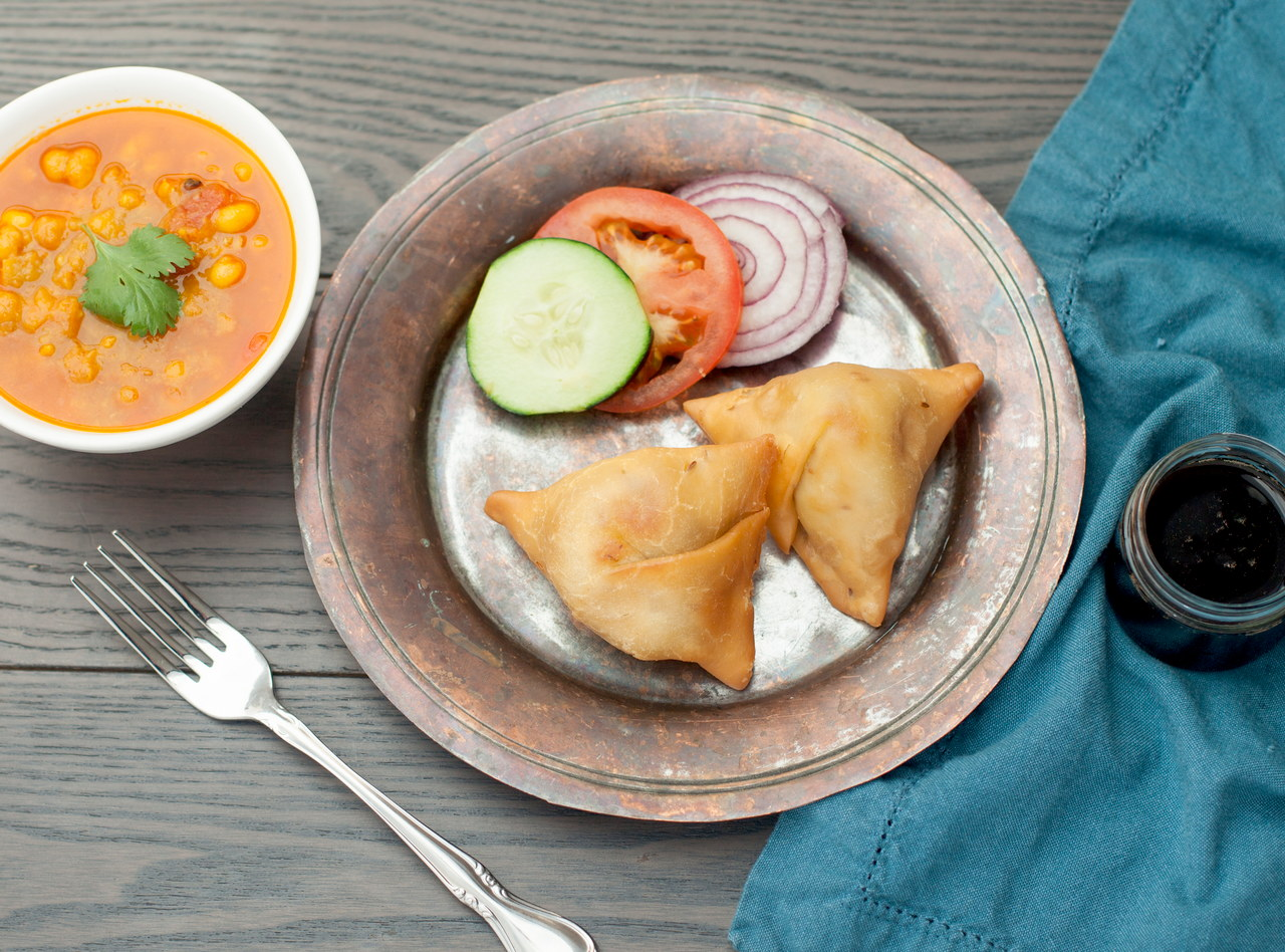 Samosas with Yellow Curry & Tamarind by Chef Nirjala Raut Pandit