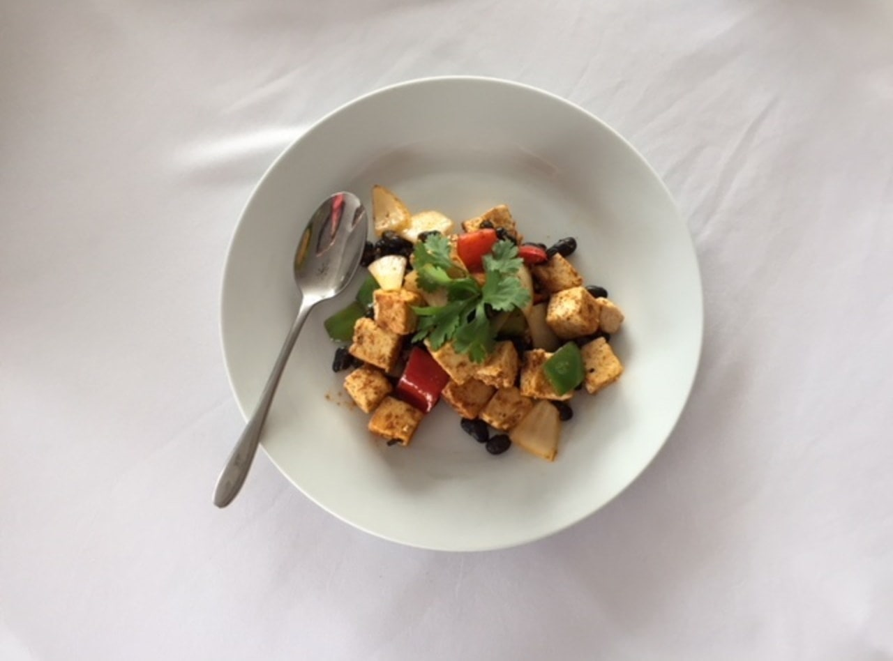 Vegan Tofu Scramble by Chef Audemar Leon & Team