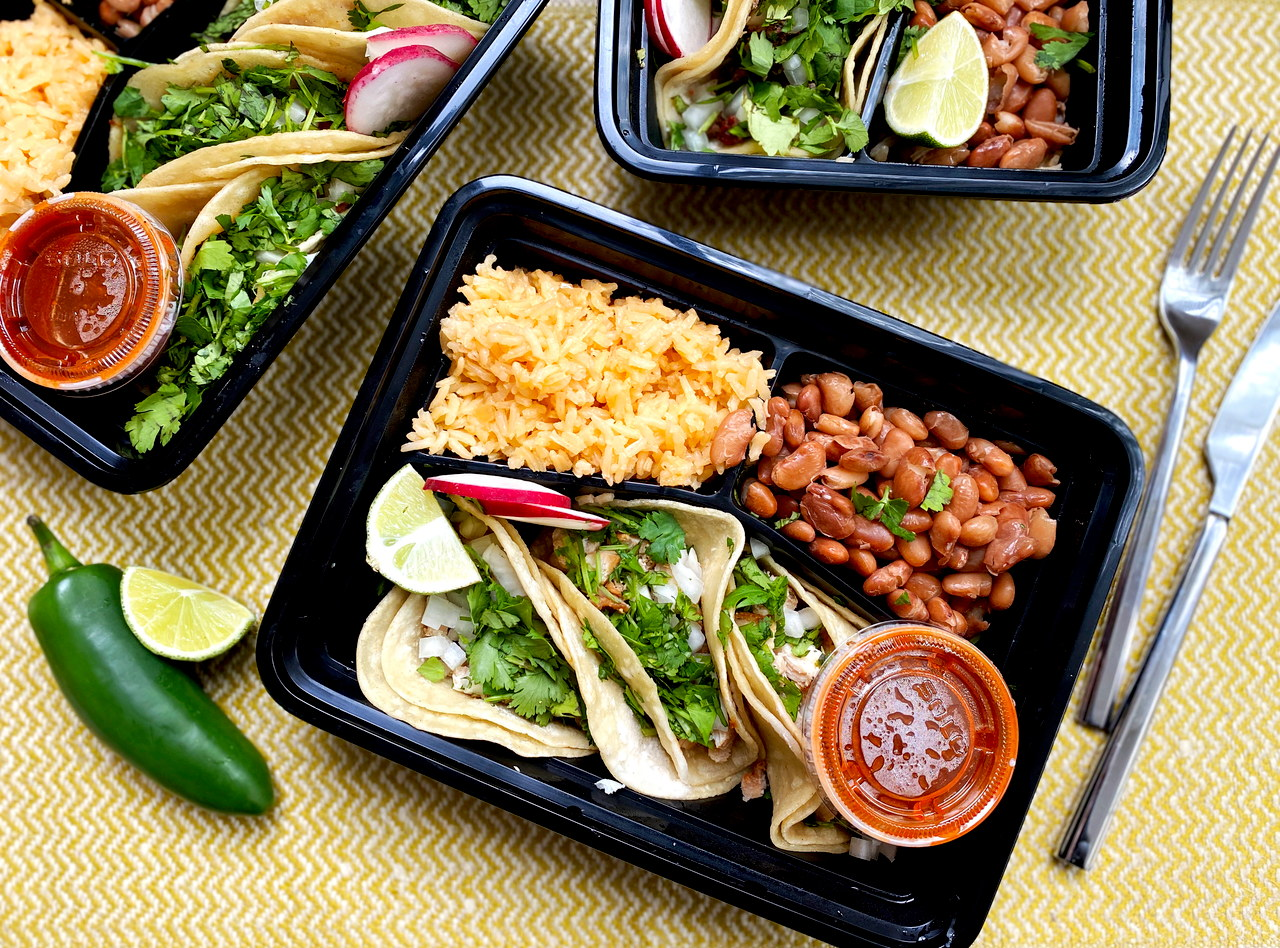 Chicken Street Tacos Boxed Lunch by Chef Leticia Gallegos