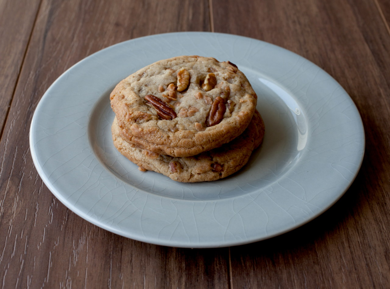 Two Brown Butter Toffee Pecan Cookies by Chef Keith Hubrath