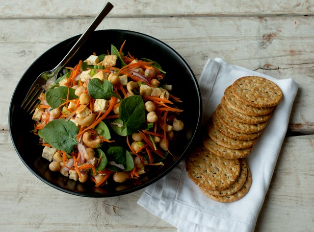 Tofu and Chickpea Salad by Chef Katie Peterson