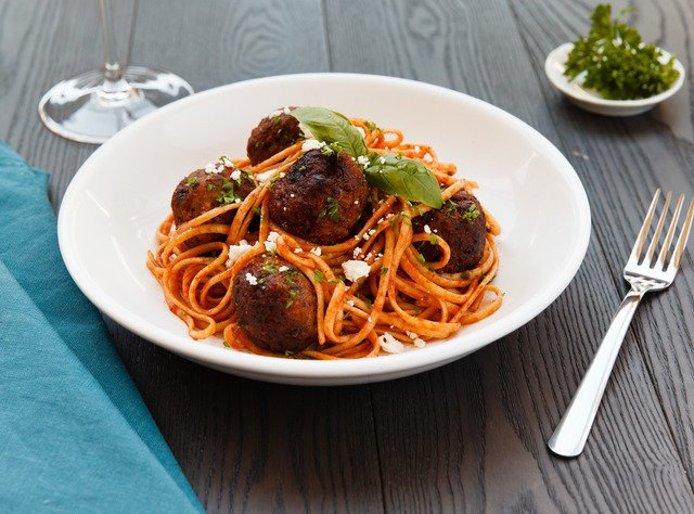 Greek Spiced Turkey Meatballs & Linguini by Chef Prakash Niroula