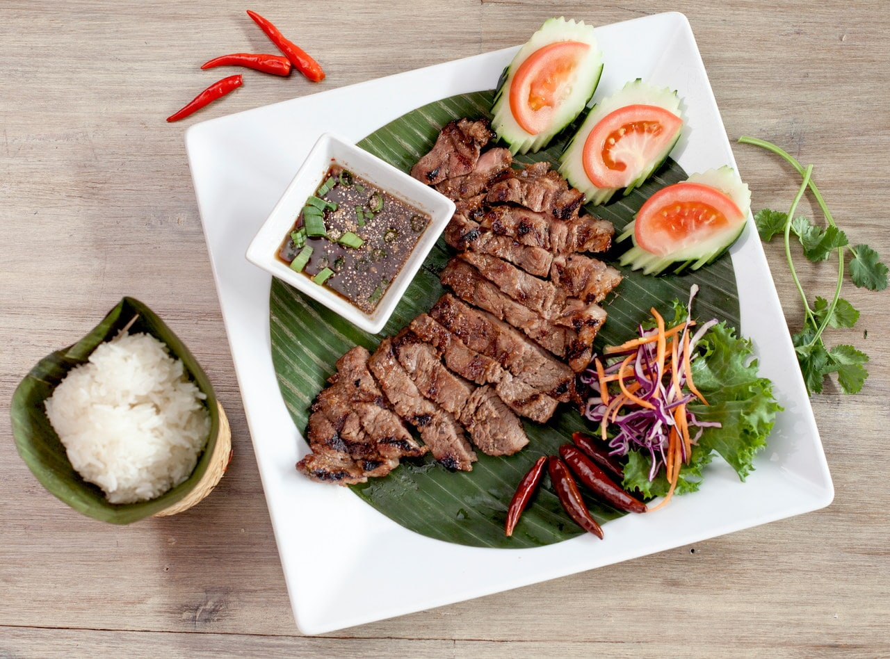 Thai-style Grilled New York Steak by Chef Pik Kookarinrat