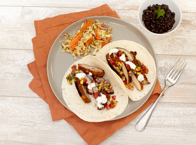 Blackened Chicken Tacos by Chef Steve Shafer