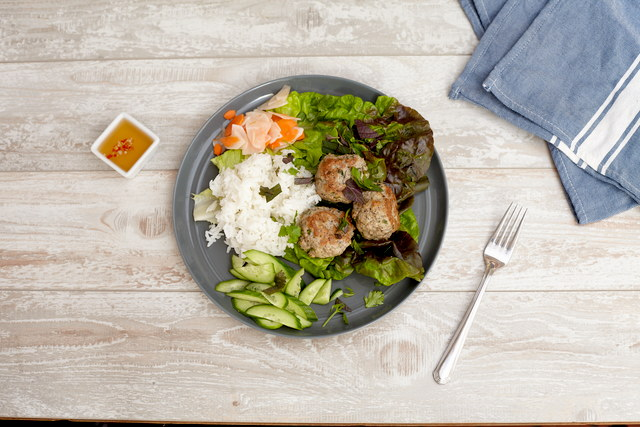 Lemongrass Chicken Meatballs by Chef Steve Shafer