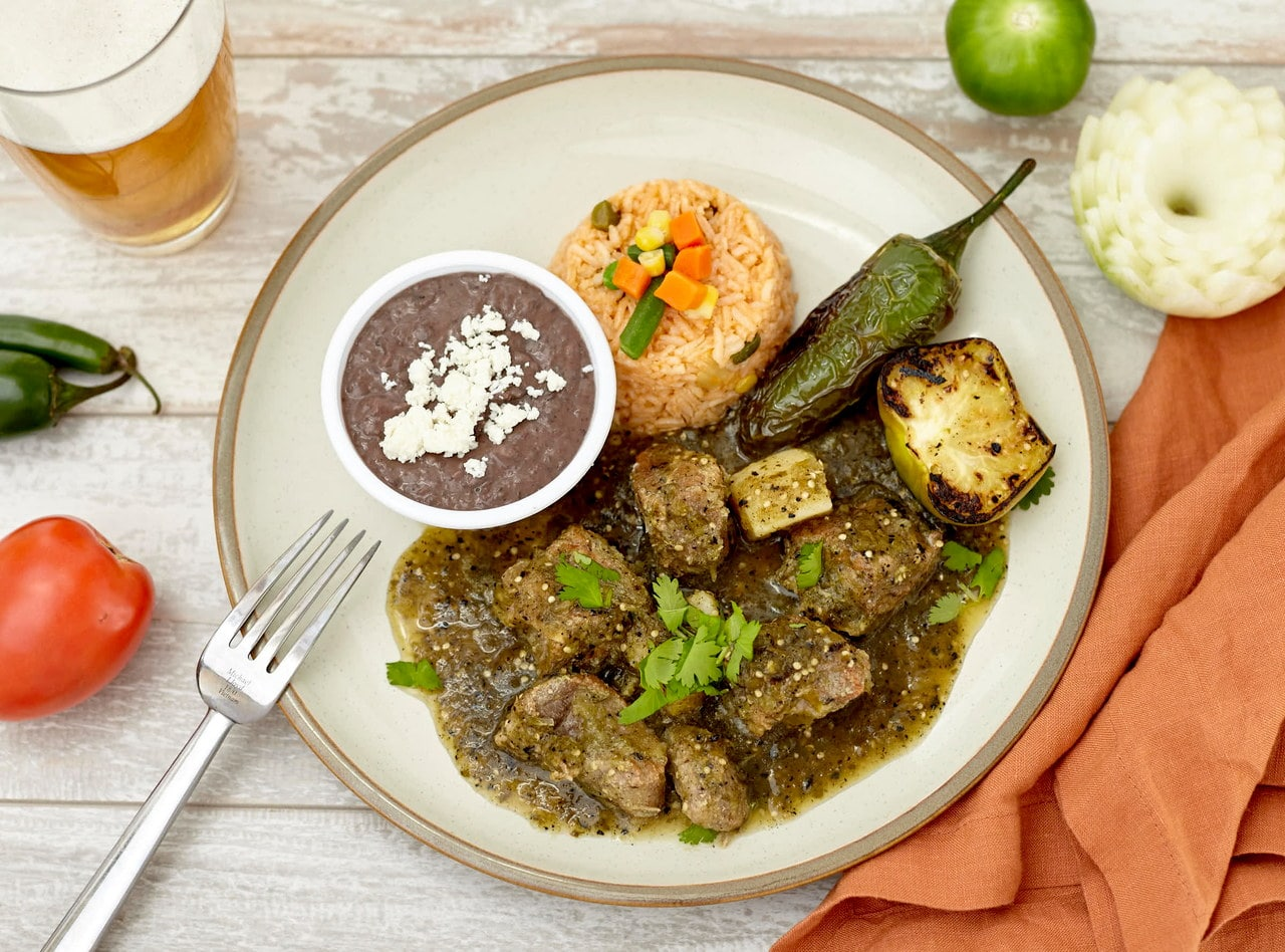 Chile Verde with Pork and Potatoes by Chefs Frankie & Edgar