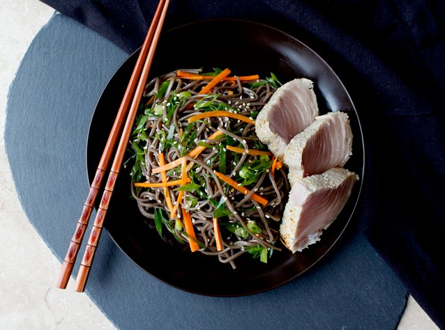 Seared Alabacore Tuna with Soba by Chef Garrett Doherty