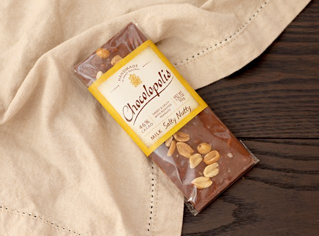 Salty Nutty Milk Chocolate Bar by Chocolopolis