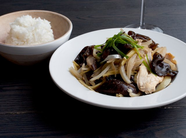 Ginger Chicken with Shitake & Mushrooms by Chef Max Borthwick