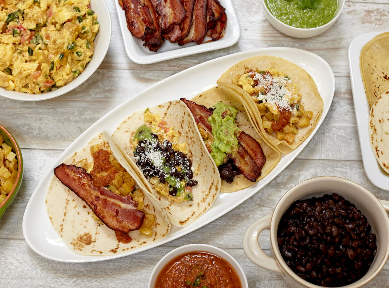 Vegetarian Tex-Mex Breakfast Tacos Buffet by Chef Natalie Lamberjack