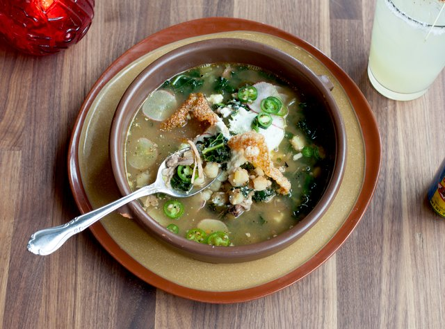 Smoked Pork and Tomatillo Pozole by Chef Brian Madayag