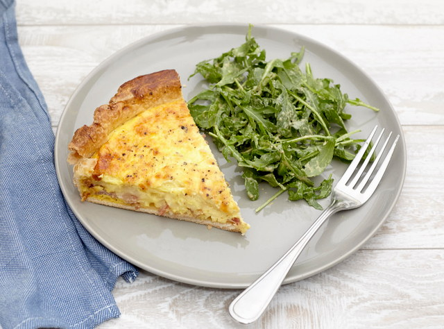Provencale Bacon Quiche with Arugula Salad by Chef Christophe