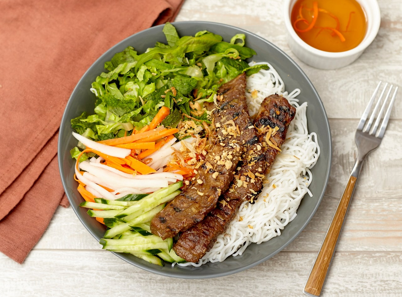 Vietnamese Vermicelli Noodles with Tri-Tip by Chef Tanya Jirapol