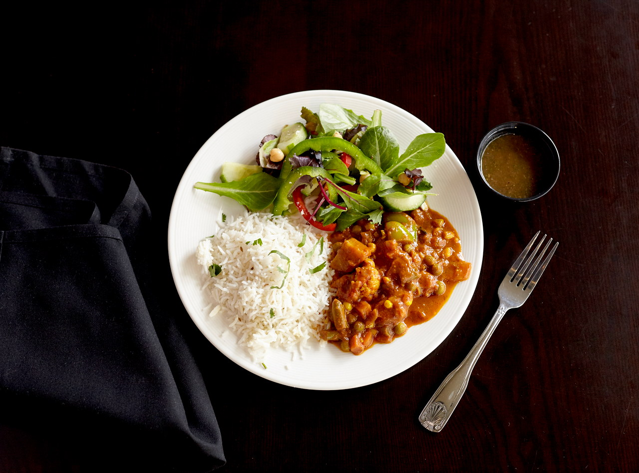 Vegan Vegetable Vindaloo Boxed Lunch by Chef Nitin Panchal
