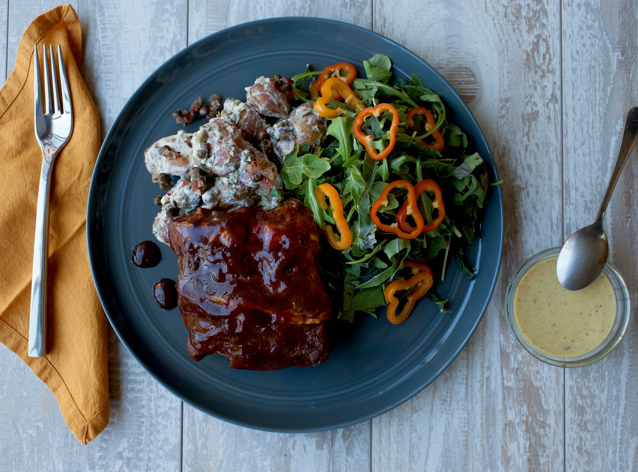 Applewood Smoked Barbecue Pork Ribs by Chef Michelle Walker