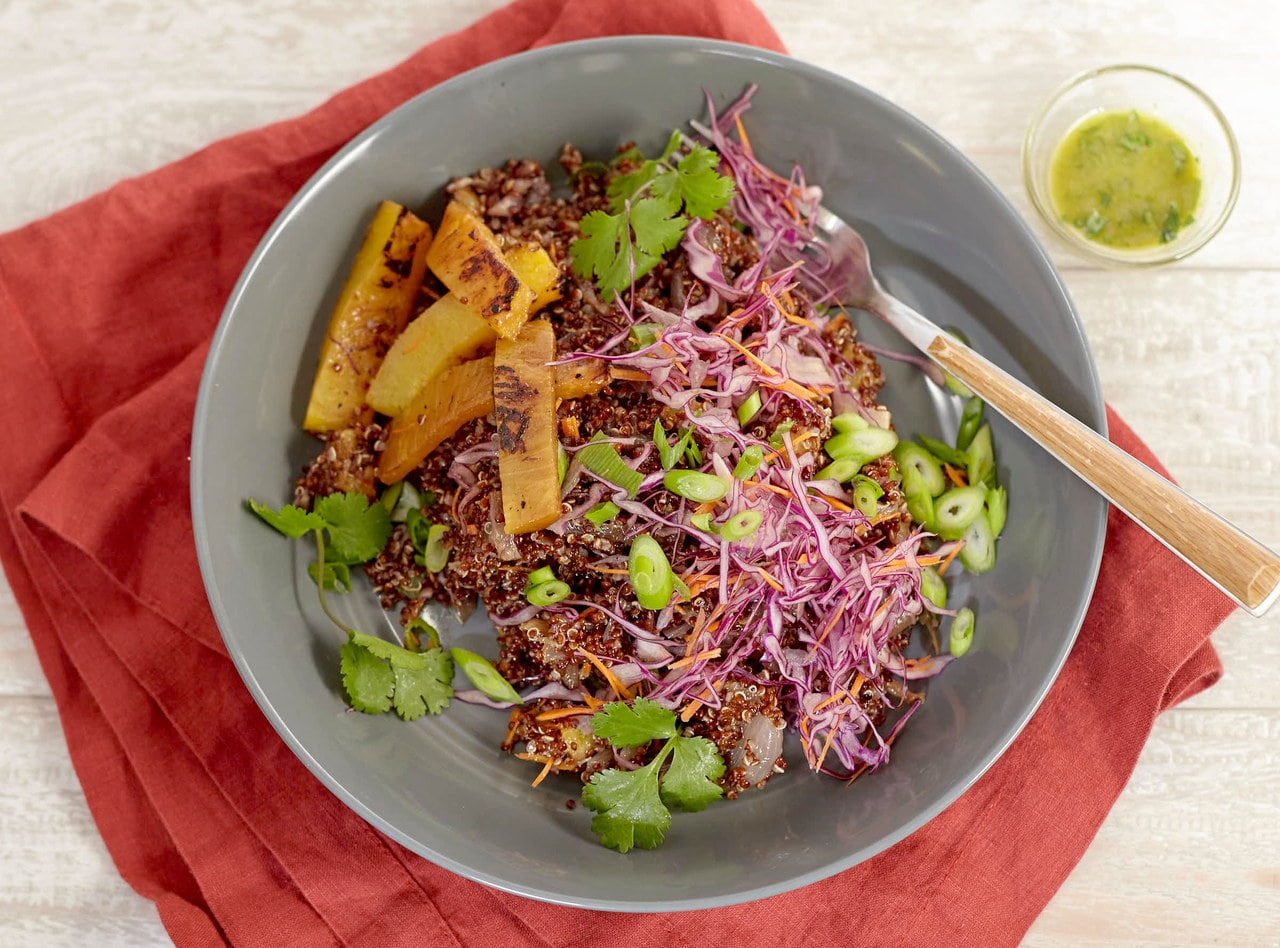 Green Dragon Quinoa Bowl by Chef Jenn Strange