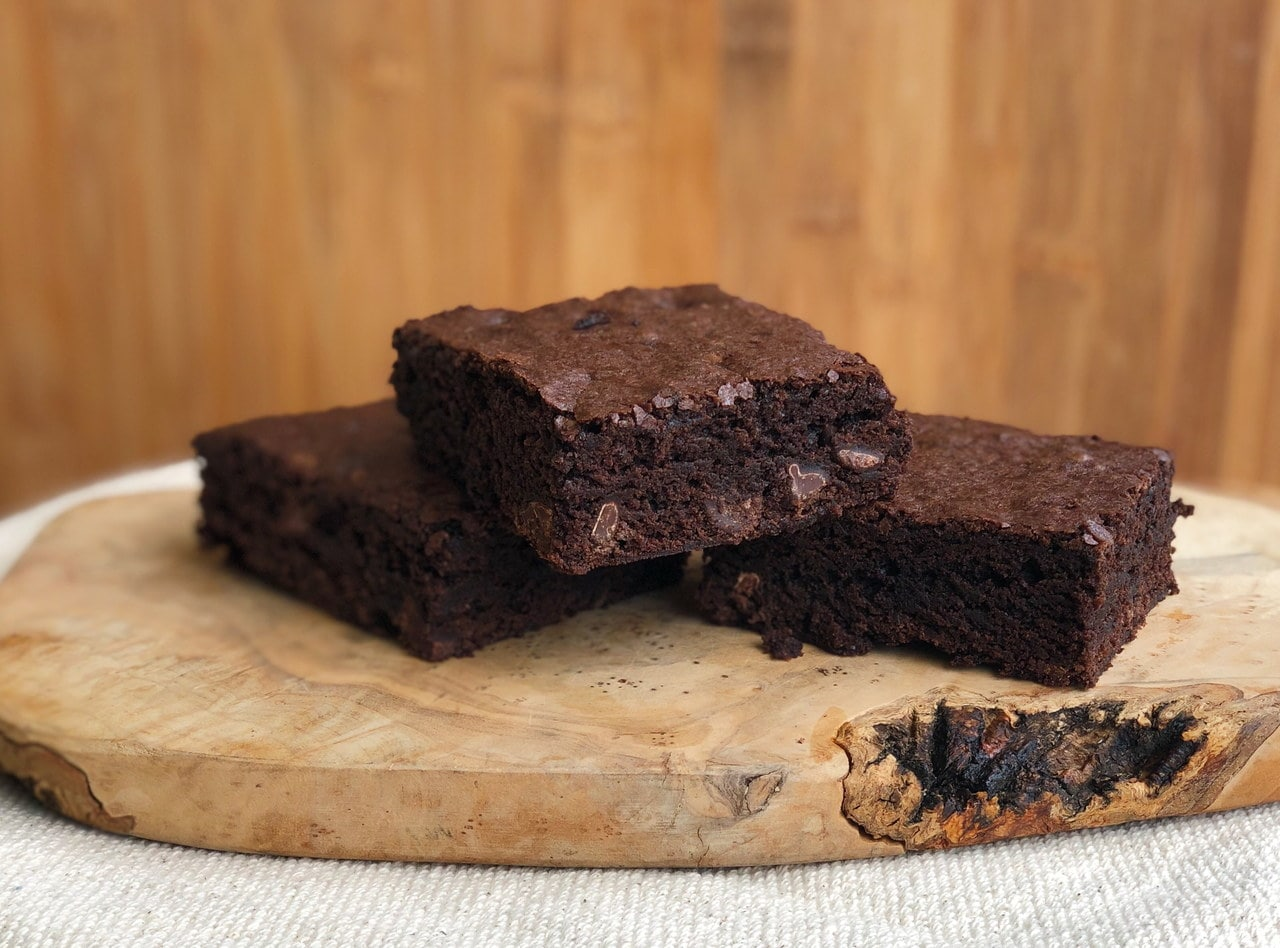 Dark Chocolate Triple Chip Brownies by Chef Matthew Hunt