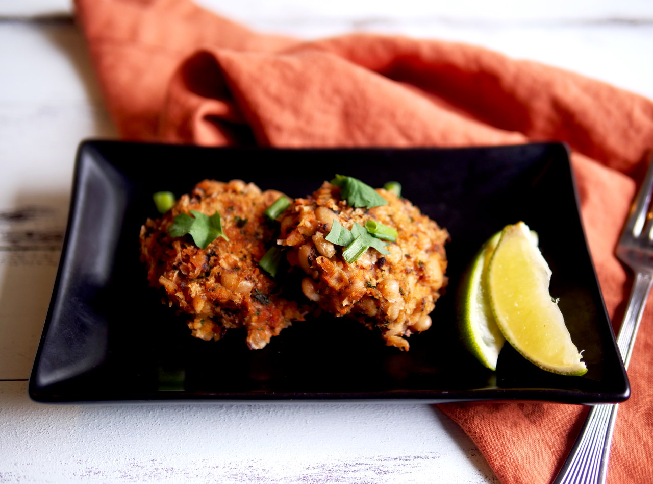 Side of Gluten Free Black Eyed Pea Patties by Chef Mulu Abate