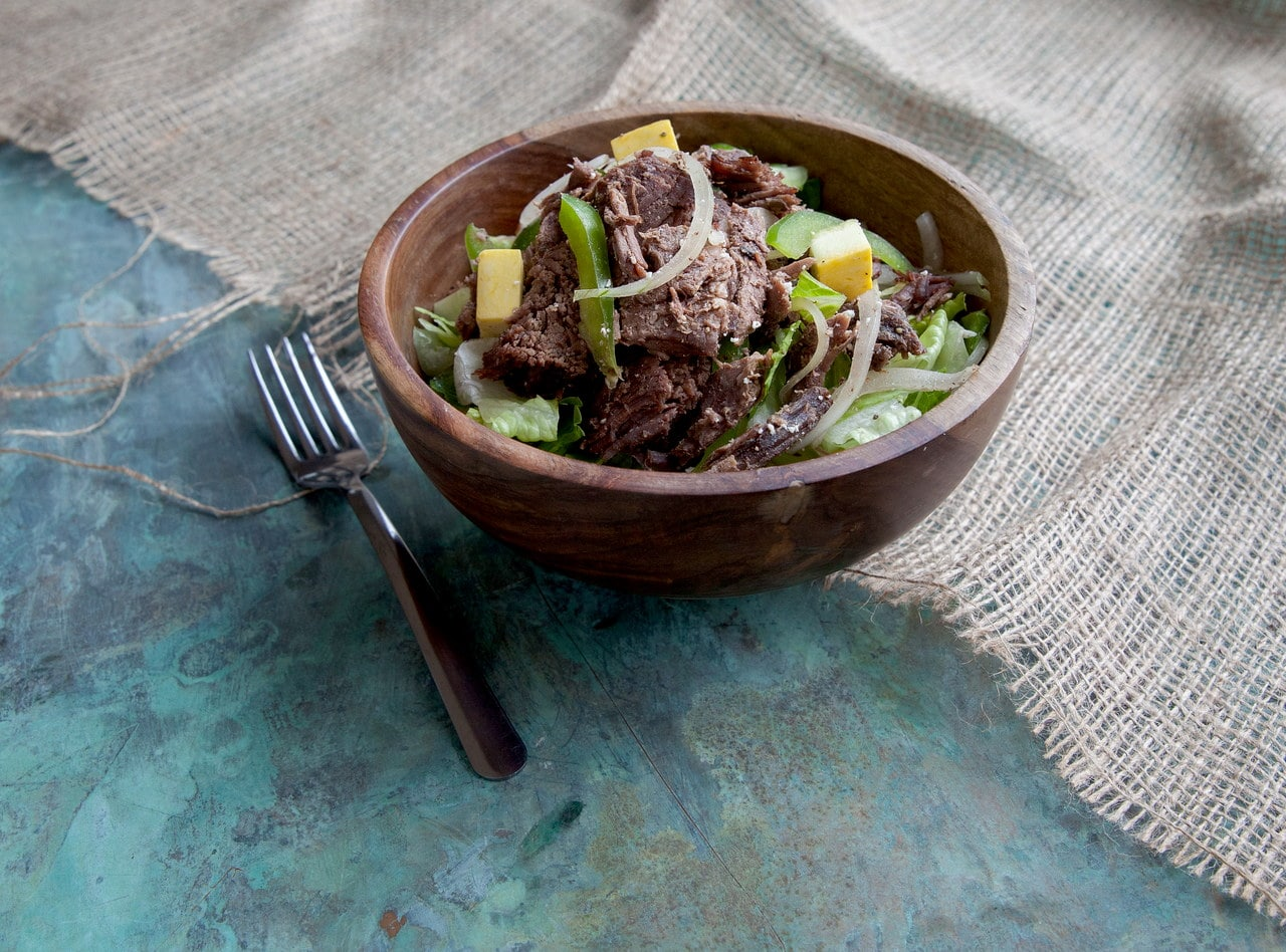 Peppered Beef Salad by Chef Amanda Sue