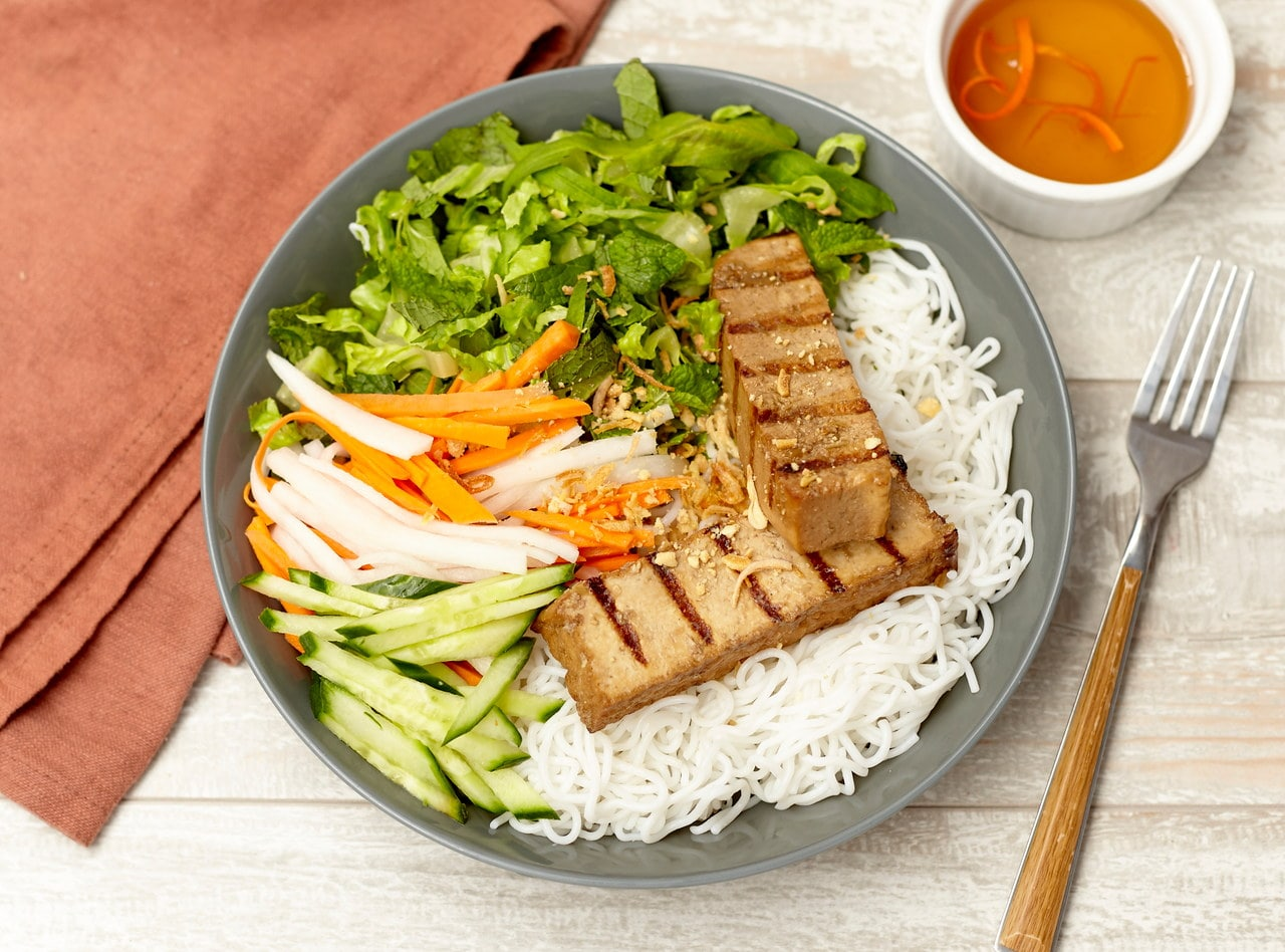 Vietnamese Vermicelli Noodles with Organic Tofu by Chef Tanya Jirapol