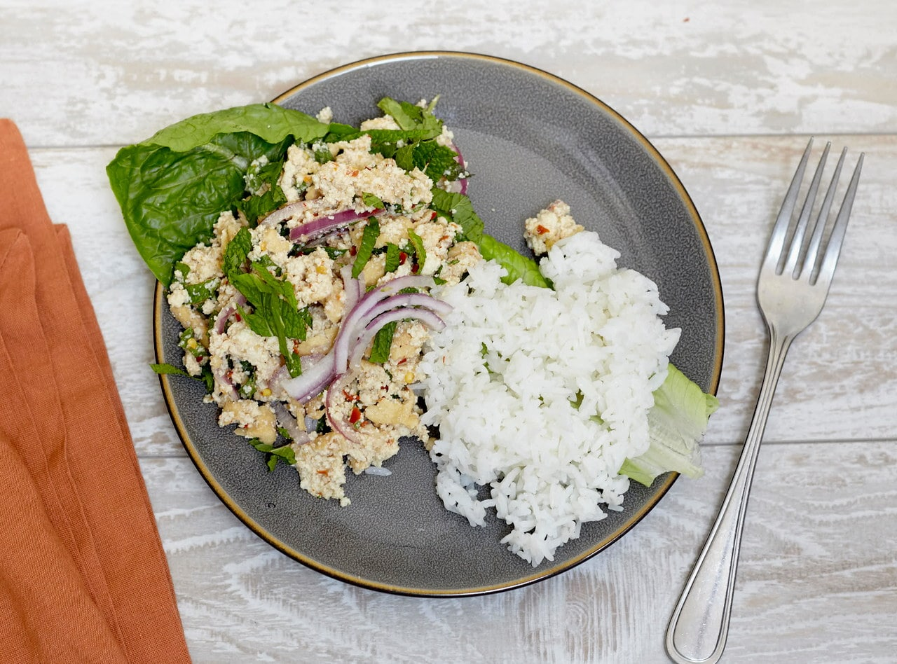 Larb Tofu Salad by Chef Tanya Jirapol